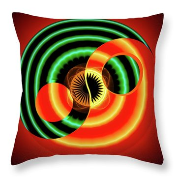 The Yin And The Yang Throw Pillow by Mario Carini