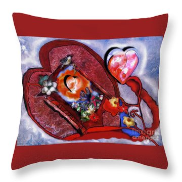 The Yin And Yang Of My Heart Throw Pillow