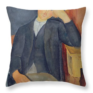 The Young Apprentice Throw Pillow by Amedeo Modigliani