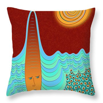 The Young Man And The Sea Throw Pillow