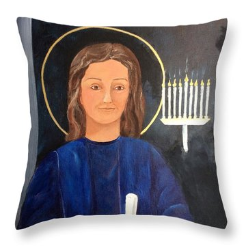 The Young Teacher Throw Pillow by Ellen Canfield