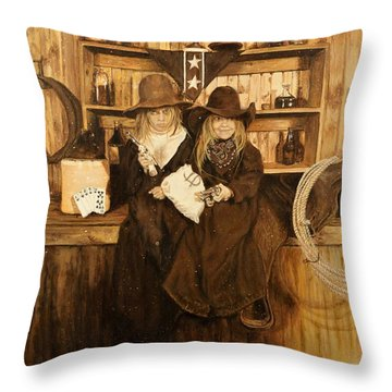 The Younger Kids Throw Pillow