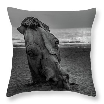 The Youth And The Horsehead Throw Pillow