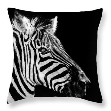 The Zebra Stripes Throw Pillow
