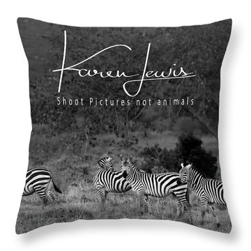 Throw Pillow featuring the photograph The Zebra Tree by Karen Lewis