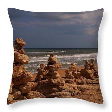 The Zen Of A Hurricane 2 Throw Pillow
