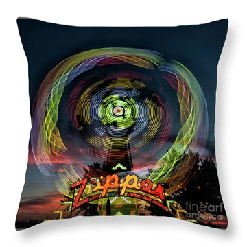 The Zipper Motion Art By Kaylyn Franks Throw Pillow
