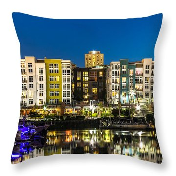Thea's Landing On The Foss Waterway Throw Pillow