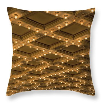 Theater Ceiling Marquee Lights Throw Pillow by David Gn