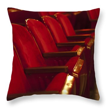 Throw Pillow featuring the photograph Theater Seating by Carolyn Marshall