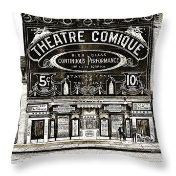 Theatre Comique Throw Pillow