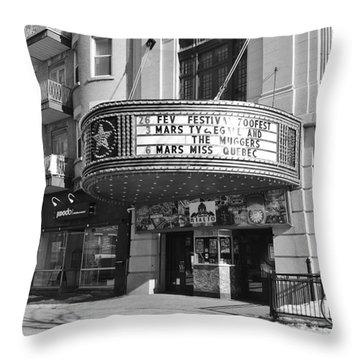Theatre Rialto Montreal Throw Pillow