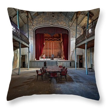 Theatre Scene - Urban Decay Throw Pillow by Dirk Ercken