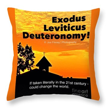 Throw Pillow featuring the photograph Thechurch Wsy by Joe Finney