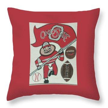 Thee Ohio State Buckeyes Throw Pillow by Jonathon Hansen