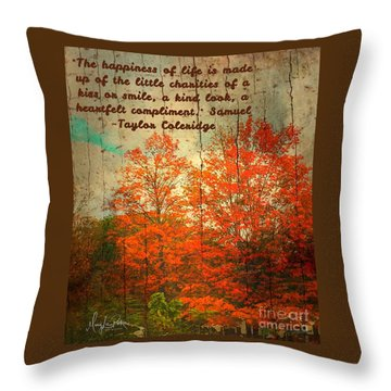 The Happiness Of Life By Taylor Coleridge Throw Pillow