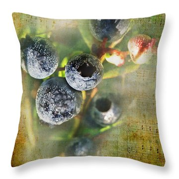 Them Old Blueberry Blues Throw Pillow