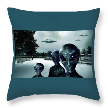 Them Outlanders . . .  Throw Pillow