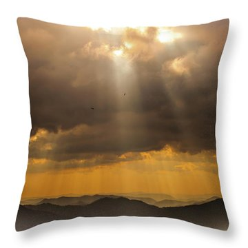 Then Sings My Soul Throw Pillow by Karen Wiles