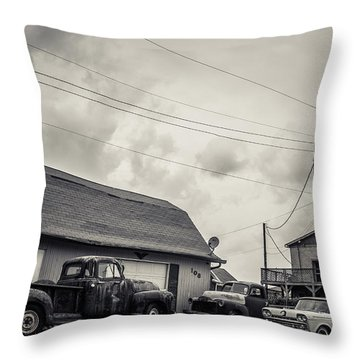 Then There Were 3  Throw Pillow by Off The Beaten Path Photography - Andrew Alexander
