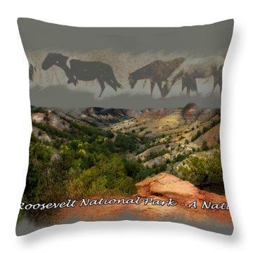 Theodore Roosevelt National Park Throw Pillow