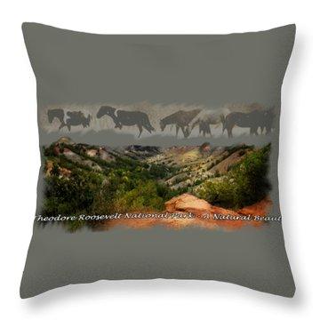 Theodore Roosevelt National Park Throw Pillow