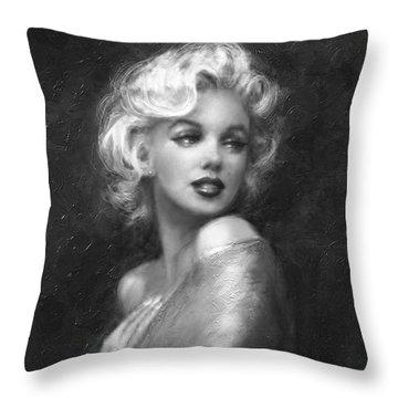 Theo's Marilyn Ww Bw Throw Pillow