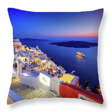 Thera Sunset  Throw Pillow
