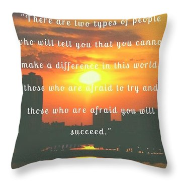 There Are 2 Kinds Of People Throw Pillow