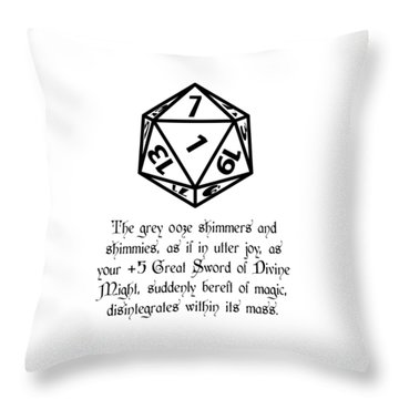 There Goes That Sword Throw Pillow