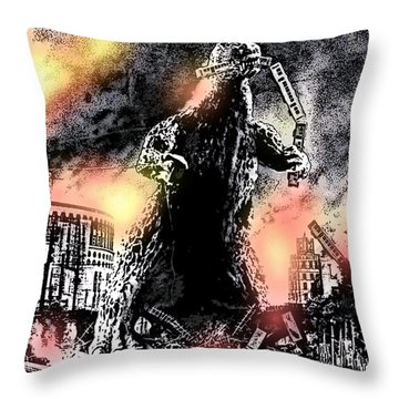There Goes Tokyo Throw Pillow by George Pedro