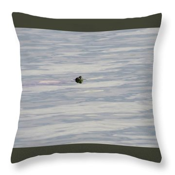 There He Is Throw Pillow by Laurel Powell