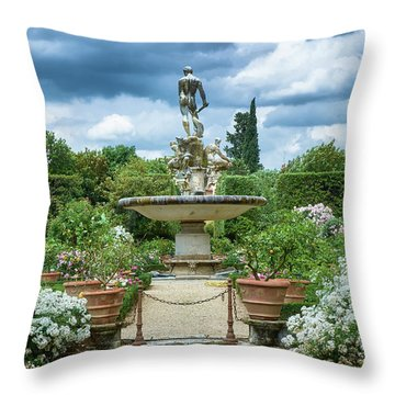 There Is An Island In Your Garden Throw Pillow