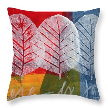 There Is Joy Throw Pillow by Linda Woods