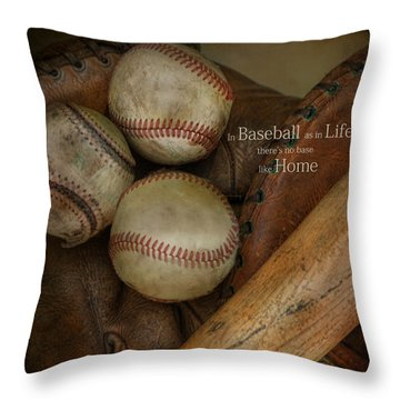 Throw Pillow featuring the photograph There Is No Base Like Home by Robin-lee Vieira