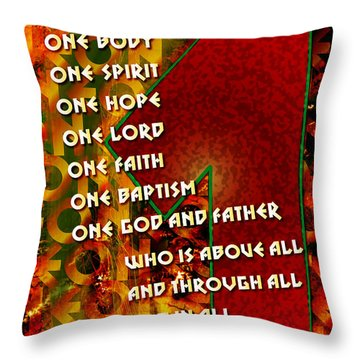 There Is Only One Throw Pillow by Chuck Mountain