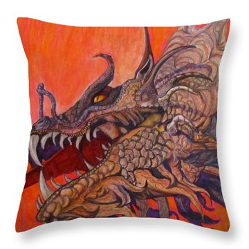 There Once Were Dragons Throw Pillow