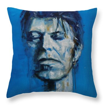 There S A Starman Waiting In The Sky Throw Pillow