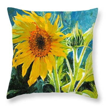 There's A New Bud In Town Throw Pillow