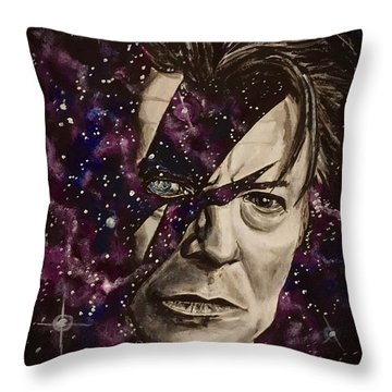 There's A Starman Waiting In The Sky Throw Pillow