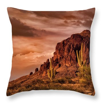 Throw Pillow featuring the photograph There's Gold In Them Hills  by Saija Lehtonen