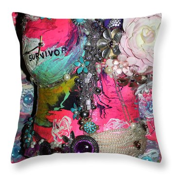 Therese - In The Garden Of My Heart Throw Pillow