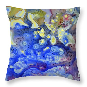 Throw Pillow featuring the painting Thermal Tapestry by Joan Hartenstein