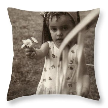 These Are For You Daddy.. Throw Pillow