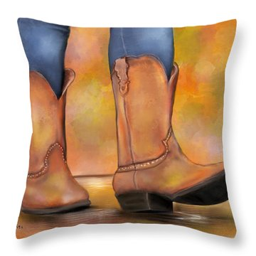 These Boots Are Made For Walkin  Throw Pillow