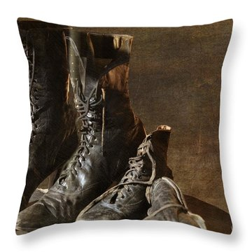 These Boots Are Made For Walking Throw Pillow by Liane Wright