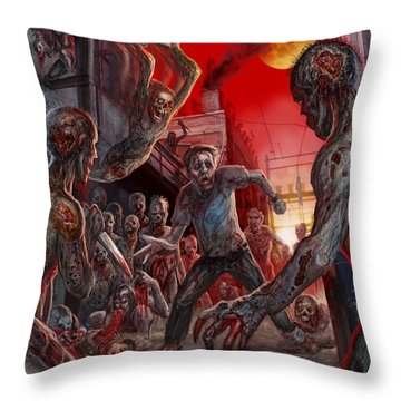 These Last Days Of Humanity  Throw Pillow