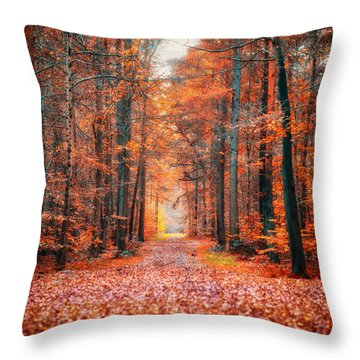 Throw Pillow featuring the photograph Thetford Forest by James Billings
