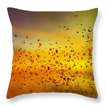They Call Me Fall Throw Pillow by Mary Hood