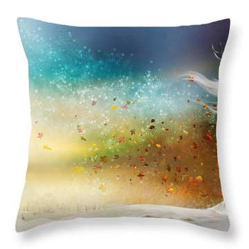 They Call Me Winter Throw Pillow by Mary Hood